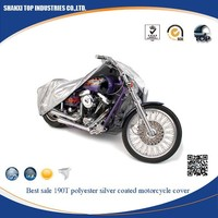 best sale 190t polyester silver coated motorcycle cover