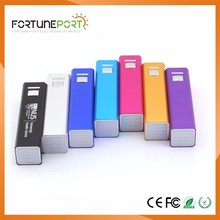 Candy Color Lipstick Shape Power Bank Excellent Quality Cell Phone Charger with Custom Logo