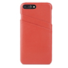 Ultra slim card holder mobile phone case, genuine leather litchi skin phone back cover