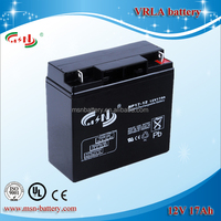 Vrla battery UPS battery 12V 18AH rechargable agm batteries for UPS / alarm system