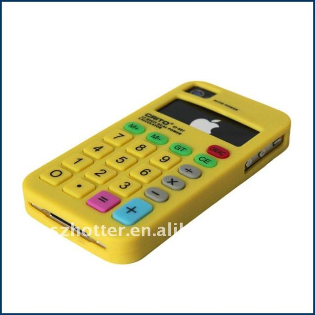 New Arrival Silicone Simulation Calculator Case for iphone 4