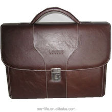 brown leather messenger bag Trendy office men bags used briefcases