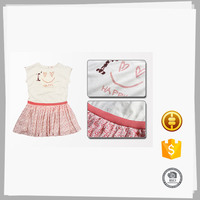 New style Custom modern simple summer children cotton dresses for kids