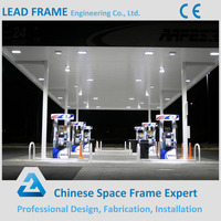 High Wind Resistance Light Steel Structure Gas Station Canopy