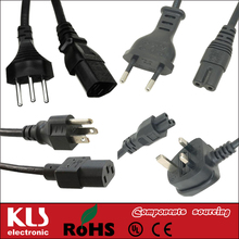 Good quality ac european power cord cable 240v cable UL CE ROHS 033 KLS brand