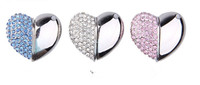 real capacity. Crystal Heart 4gb 8gb 16gb 32gb jewelry usb flash drive jewelry usb memory pen driver gifts gadget