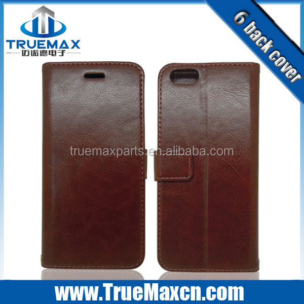 Wholesale Price PU Leather Cell Phone Case For iPhone 6