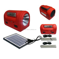 Handy rechargeable solar powered lanterns with am/fm radio and mobile charger