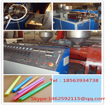 China PP PE Drinking Straw Extruder Machinery / Drinking Straw Production Line