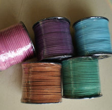 High-grade Colorful Faux Suede Leather Fabric Cord for Girls Jewelry Necklace