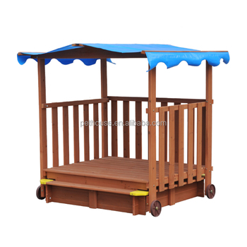 Sandbox with Canopy and Wheels