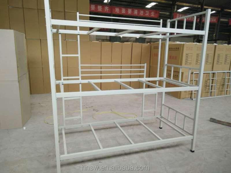 130kg person can sleep 3 tier bunk bed durable metal bunk bed