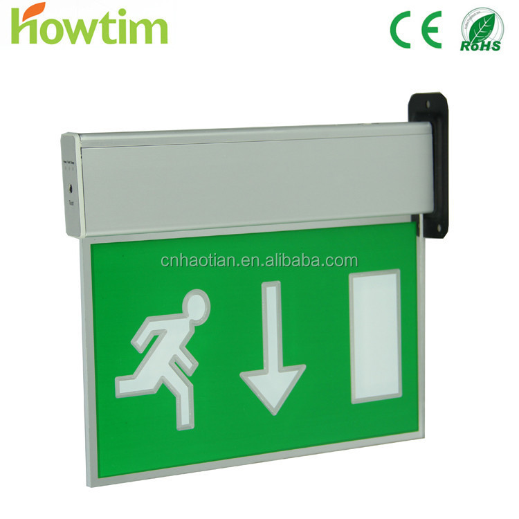 EN60598-2-22 IP20 exit sign board emergency light led with CE RoHS 4 year warranty