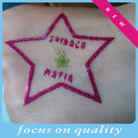 Body art glitter waterproof temporary tattoo