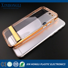 clear pc tpu electroplating case for iphone 6 6s ,electroplated pc tpu case