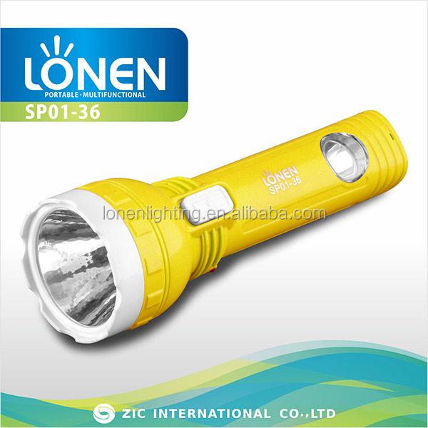 LONEN cheap yellow wind up high quality electric charge 0.5W 1 led side light led torch