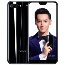 Original Huawei Honor <strong>10</strong> 6GB 128GB Dual AI Rear Cameras Face Fingerprint Identification Infrared Remote 4g Mobile Phone