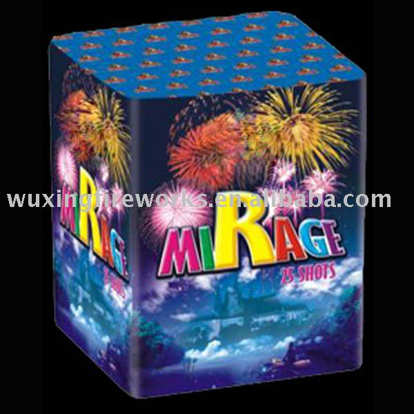 "0.8"" 25 SHOTS PYROTECHNICS CAKE FIREWORKS/fuegos artificiales/STOCK SUPPLY"