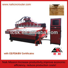 ABS plate cnc engraving machine with multi heads