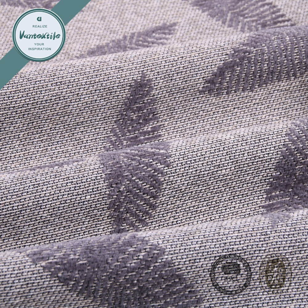 Polyester Jacquard Yarn Dyed Sofa Cover Fabric Super Poly Fabric