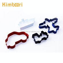 LFGB/FDA Food Grade Popular Ship/Train/Car/Plane Shape Hot Sale Powder Coating Car Cookie Cutters