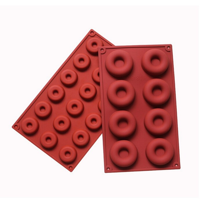Heat Resistant from -40 to 445F easy removal of baked goods Two Different Size Set of 2 Silicone Mold for Chocolate Donut