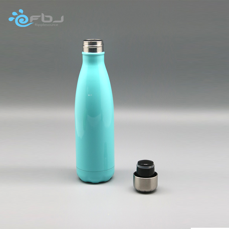 Cheap Hot Sale stainless steel coffee cup with straw empty water drinking coke bottles any color could design what you prefer