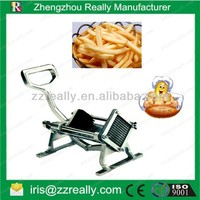 Industrial family dual use wall mounted stainless steel bulbous vegetables manual potato chips cutting machine
