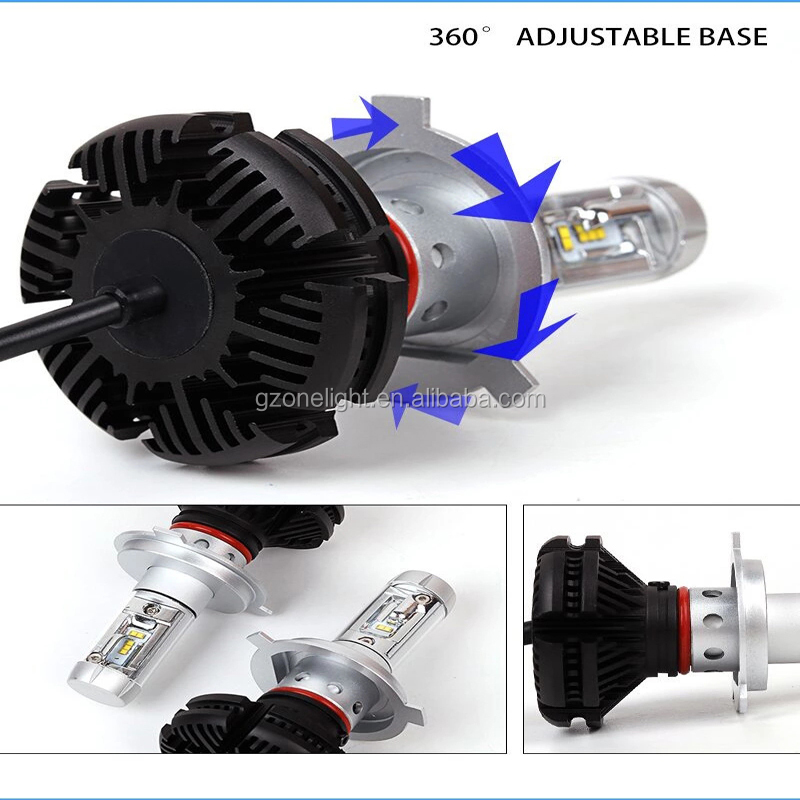 50w 6000LM h4 free DIY with 3 kinds colorful car accessories X3 LED headlight h4