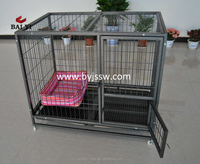 Breeding Metal Iron Luxury Dog Kennel & Welded Portable Dog Kennel Cage On Alibaba