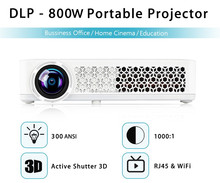 HD Mini LED Projector 3D 1080P Android 4.4 Hologram Mini Projector