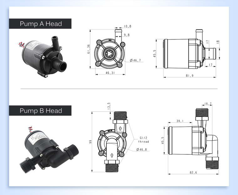 12v 24vdc DC mini Submerged water pump/Brushless Small Pump