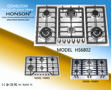 E bay hot selling Style Gas Range top 6 Burners 36 - Inch, Stainless Steel
