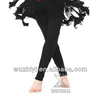 Belly Dance Pants, Black Sexy Pants of Belly Dance Practise Pants,Belly Dancing Performance Pants for Dancer (QC9002)