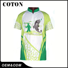 men fishing shirt/ tournament sublimation jerseys fishing wear most popular