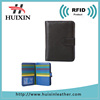 Smooth genuine leather travel passport holder with RFID design for cards slots