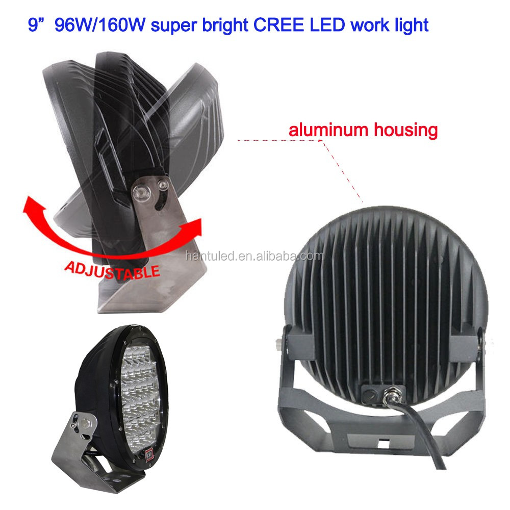 China Factory Good quality led work light for car, motorcycles, atv, utv,trucks,tractors 96w led headlight work light