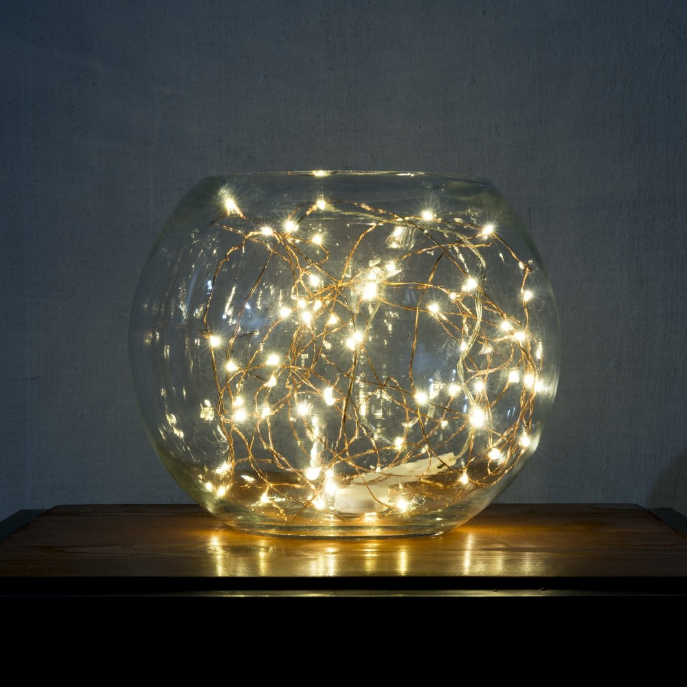 Usb led string lights starry lights copper wire for home for Indoor light decoration ideas