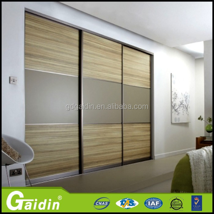 Cheap aluminium 3-track sliding wardrobe closet doors