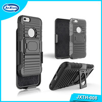 China supplier 3 en 1 holster combo robot stand cases for iphone 6