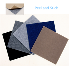 Needle punched nonwoven peel and stick adhesive floor kraft carpet tiles