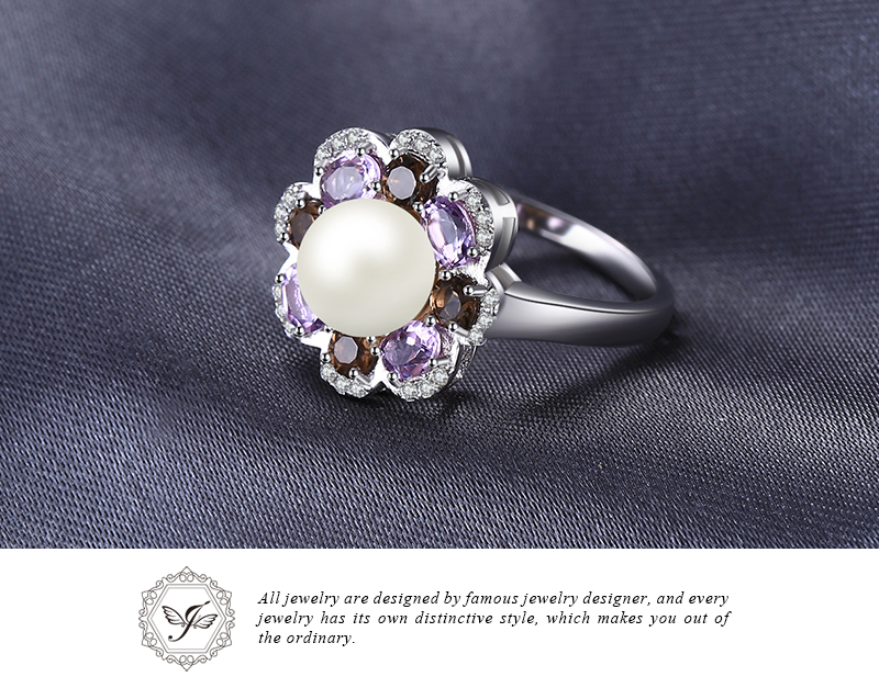 Fine Jewelry Cultured Freshwater Pearl and Genuine Amethyst Ring 0WkZyNkkI