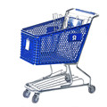 100l Canadian Style Metal plastic rolling Shopping Cart