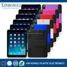 Low cost Silicone + Grid 2 in 1 multi-color for IPAD 5 silicon case