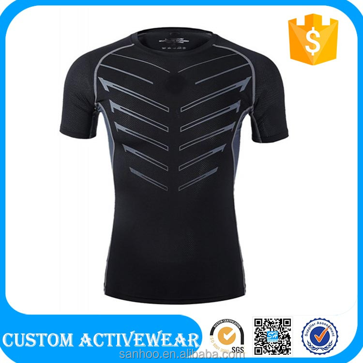 Outdoor Training Sport Wear Casual Men's Printing Quick Dry Gym TShirt