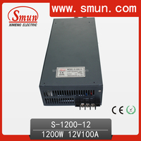 1200W 12V 100A Switching Power Supply S-1200-12 With Fan