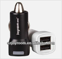 2013 Smart mini dural usb car charger for iphone 4 4s 5 5g ipad 2 3 mini samsung