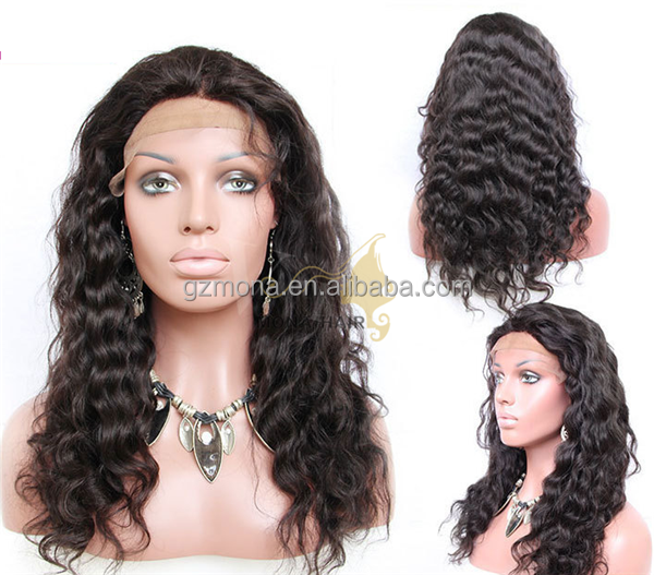 Wholesale virgin human hair, full lace Brazilian human hair wig for black women