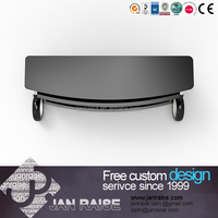 Simple design tempered glass tv stand lcd tv stand for promotion