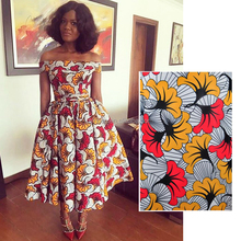 CF092 Queency Fashion Design Wholesale Printed Ankara Chiffon Fabric for Dresses, Shoes and Bags